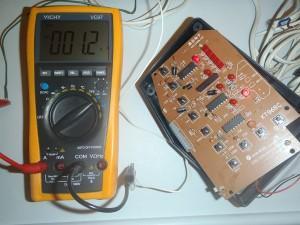 Проверка тока на нерабочем выходе